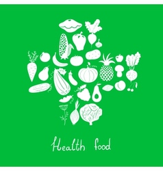 Health food icons vector