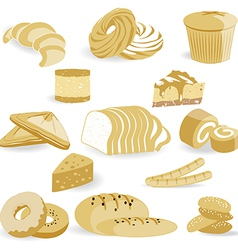 Bread bakery vector