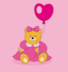 Bear with a balloon vector