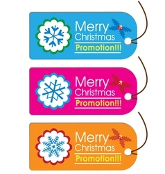 Christmas swing tags vector