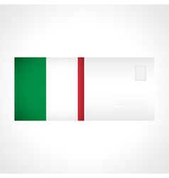 Envelope with italian flag card vector