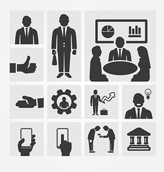Business icons management and human resources vector