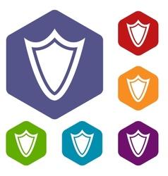 Shield rhombus icons vector