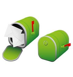 Green mailbox vector