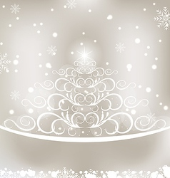 Celebration glowing card with christmas floral pin vector