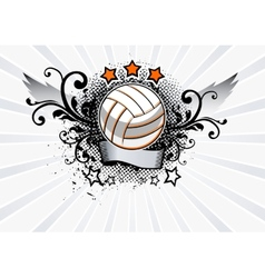 Volleyball emblem vector