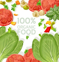 Background vegetarian fresh organic natural food vector