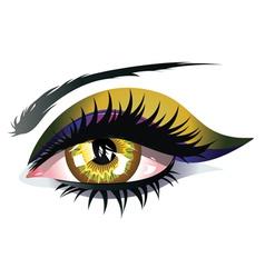 Yellow eye vector