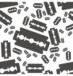 Razor blade seamless pattern vector