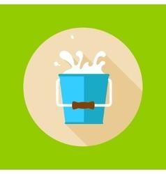 Bucket of milk vector