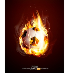 Burning football ball vector