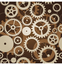 Seamless pattern with cogs and gears - vector
