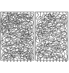 Two labyrinths vector
