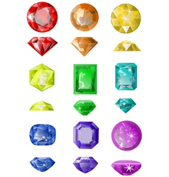 Set of precious stones vector