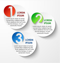 Abstract circles paper infographics vector
