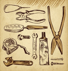 Tools scetch set vector