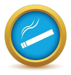 Gold cigarette icon vector