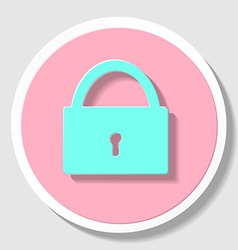 Sketch padlock with keys in flat style vector