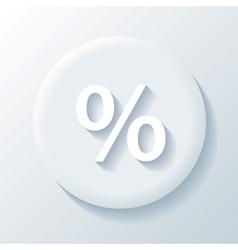 Percent paper icon vector