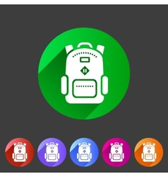 Backpack schoobag rucksack flat icon vector