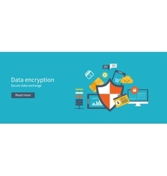 Data protection set with encryption secure data vector