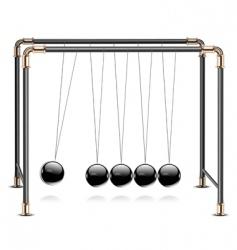 Pendulum on white vector