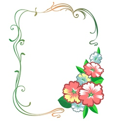 Flowers frame vector