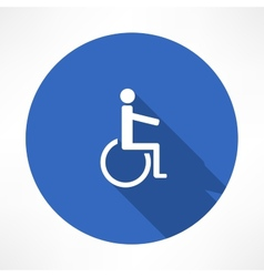 Handicap sign icons vector