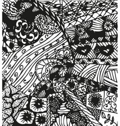 Doodling hand drawn patterns vector