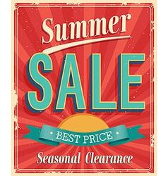 Summer sale vector