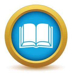 Gold book icon vector