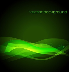 Green glowing stylish wave vector