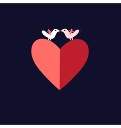 Bird lovers heart vector