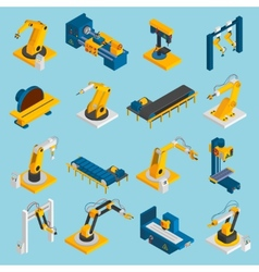 Isometric robot machinery vector
