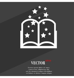 Magic book icon symbol flat modern web design with vector