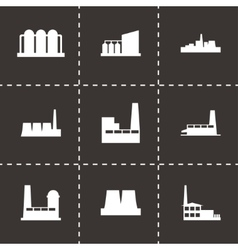 Factory icon set vector