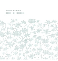 Abstract gray bush leaves textile horizontal frame vector
