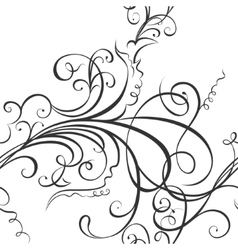 Swirling floral ornament vector
