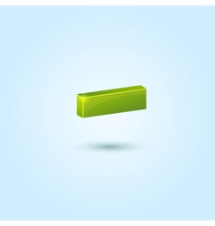 Green minus symbol isolated on blue background vector
