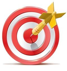 Red darts target aim vector
