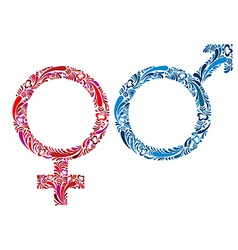 Female and male symbols vector