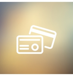 Credit card thin line icon vector