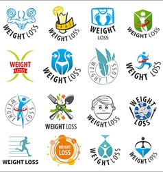 Large set of logos weight loss vector