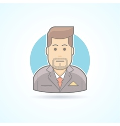 Manager broker sales agent icon avatar and vector