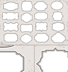 Vintage blank label set vector