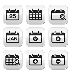 Calendar date buttons set vector