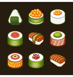 Sushi set - japan cousine vector