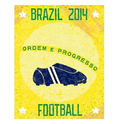 Retro poster brazil 2014 vector