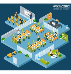 Open space office vector
