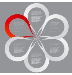 Concept of colorful circular banners in flower vector